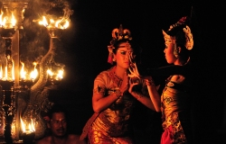 Fire Dance,  Ubud,  Bali, Indonesia, Asia, paesaggi