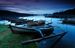 Lago Bratan, Bali, Indonesia, Asia, paesaggi