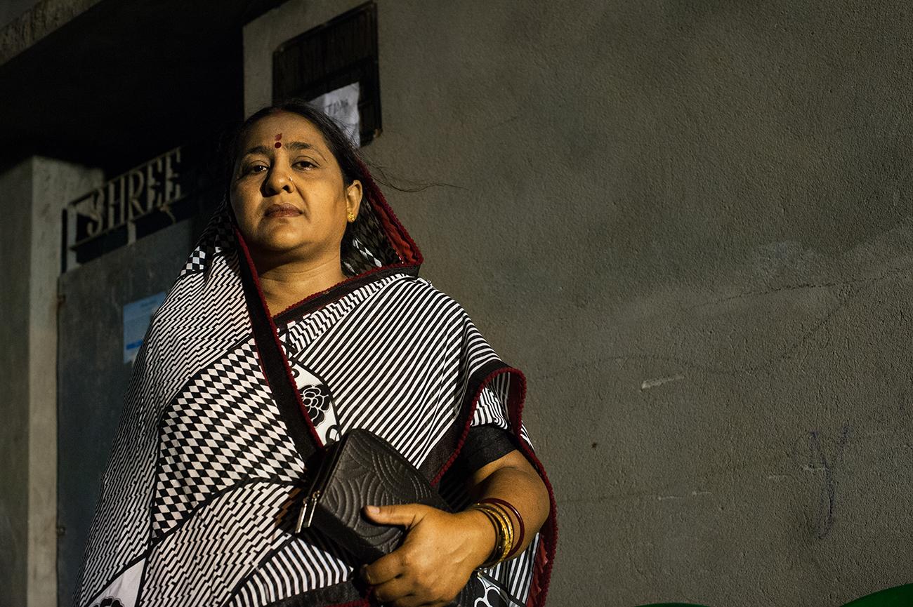 """A dalit woman candidate by Bharatiya Janata Party (BJP). Chidiamore """"Gokhana"""" dalit slum."""