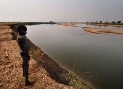 Baro River. Nuer tribe. Gambella, West Ethiopia.West Ethiopia.