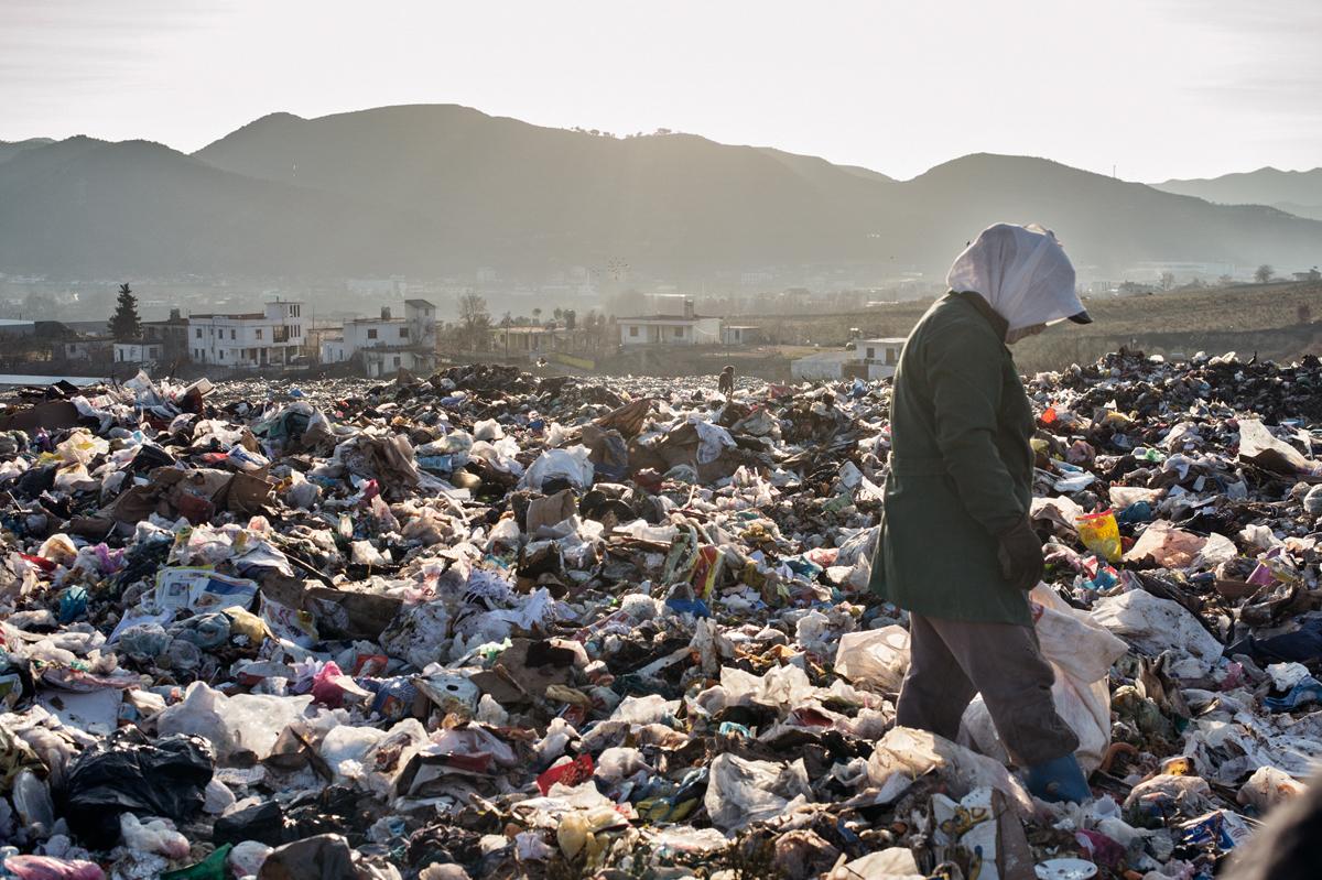 Shanna dumpsite. Tirana, Albania.