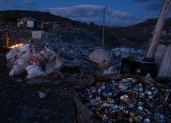 Roma Village. Shanna dumpsite. Tirana, Albania.